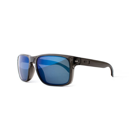 Fuse Lenses Midnight Blue Mirror replacement lenses shown in Oakley Holbrook frames