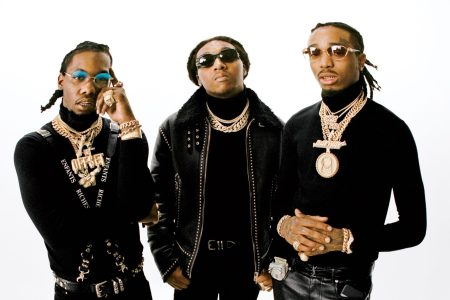 Migos photo shoot for Rolling Stone. Photo taken by Theo Wennerby