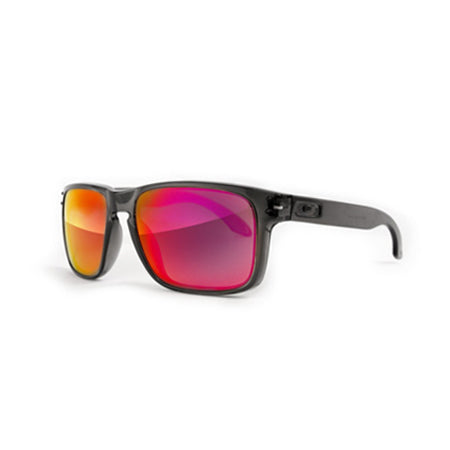 Fuse Lenses Nova Red Mirror replacement lenses shown in Oakley Holbrook frames