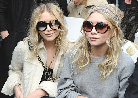 Mary-Kate and Ashley Olsen, among other celebrities in the 2000s, wore bug eyed sunglasses. These sunglasses are big and round which resemble eyes of bugs.