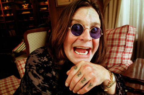 Musician Ozzy Osbourne making a funny face