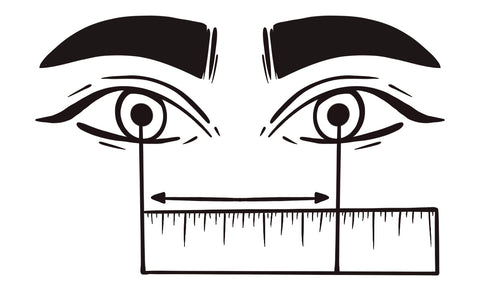 graphic measuring pupillary distance