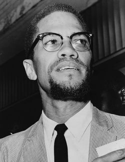 For men, wearing browline glasses, like the one Malcolm X is wearing, were all the rave in the 1950s.