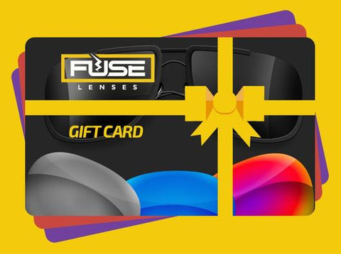 various colored fuse lenses gift cards