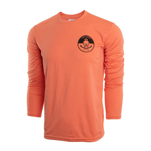Salmon UV Long Sleeve Mens with Anchors Away Logo small medium large xl