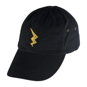 Black Dad Hat with Fuse Bolt Design