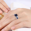 ARUEL Fashion Women Engagement Gorgeous Jewelry Bague Luxury Blue Glass Stone Crystal White Gold Color Charm Rings Bijoux Femme *Free Shipping