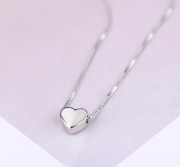Sterling Silver Love Heart Necklaces for Women Jewelry Long Necklaces *Free Shipping