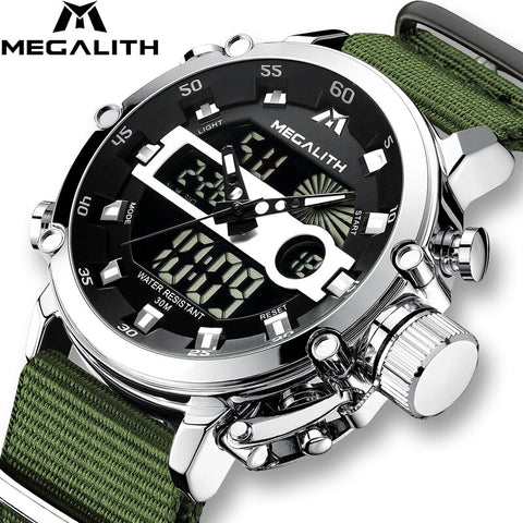 Sport Waterproof Watches Men Luminous Dual Display Alarm Top Brand Luxury Quartz Watch *Free Shipping