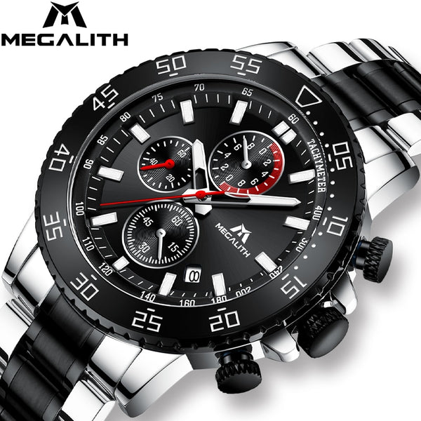 Military Watches, Men Stainless Steel Band Waterproof Quartz Wristwatch *Free Shipping