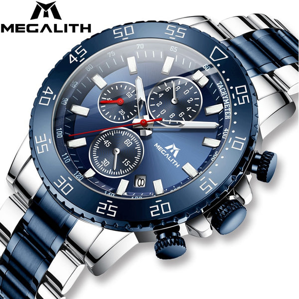 Mens Waterproof Analogue Clock Fashion Stainless Steel Waterproof Luminous Watch, This Comes With Any Ring Free And Free Shipping