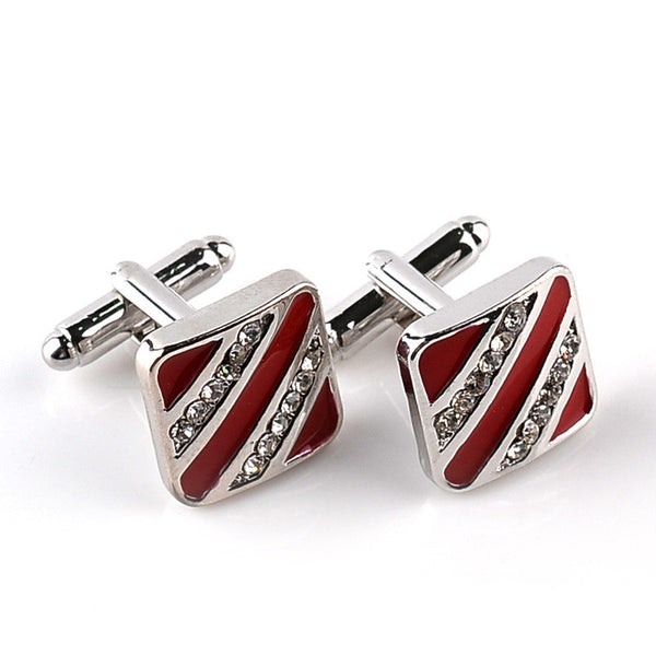 Fashion Men Jewelry  Diamond Cufflinks Crystal Cufflinks for Mens Love Romantic Cufflink *Free Shipping