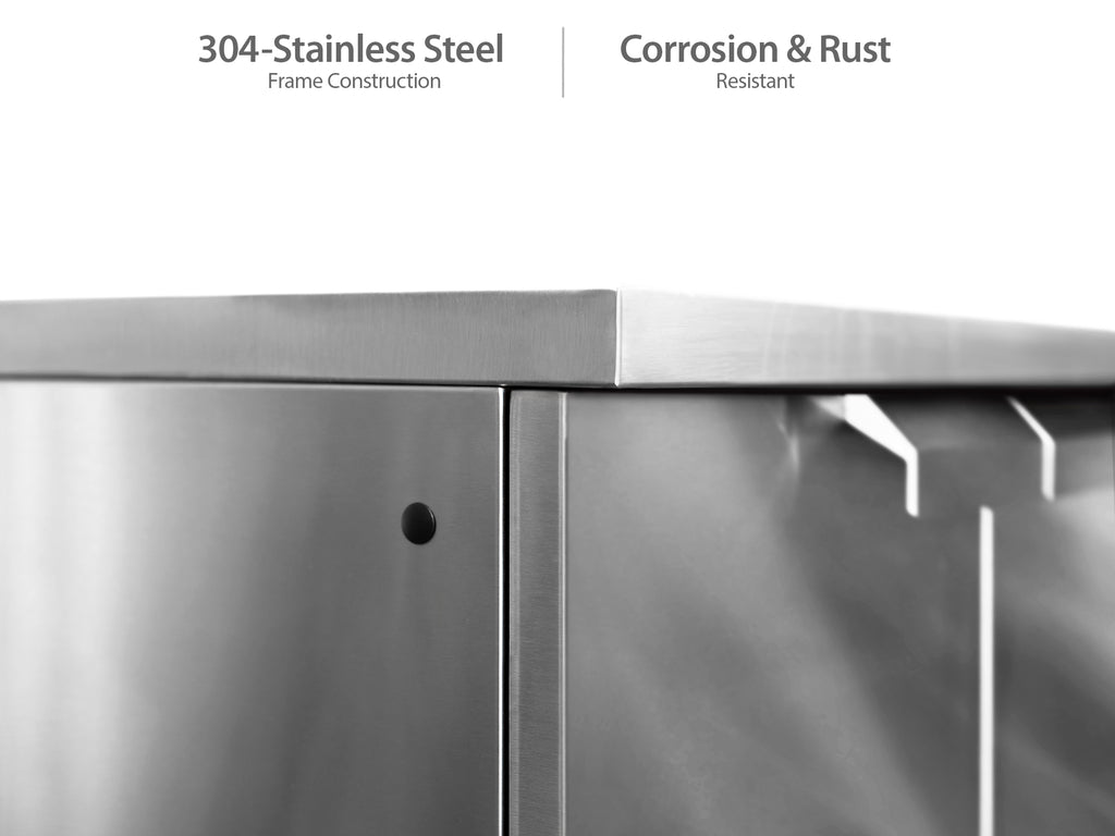 "Stainless Steel / No Cover or Countertops / 33"" Grill & Grill Cabinet"