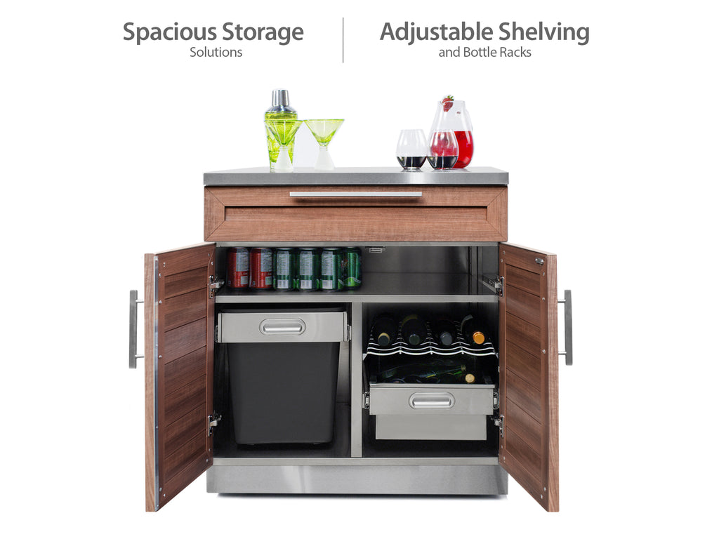 "Grove / Include Covers & Countertops / 33"" Grill Cabinet"