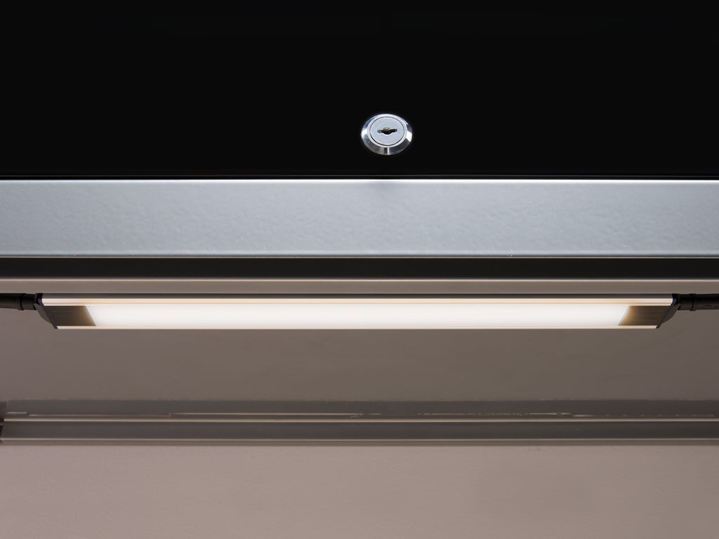 High gloss Black / Stainless Steel / Yes add light