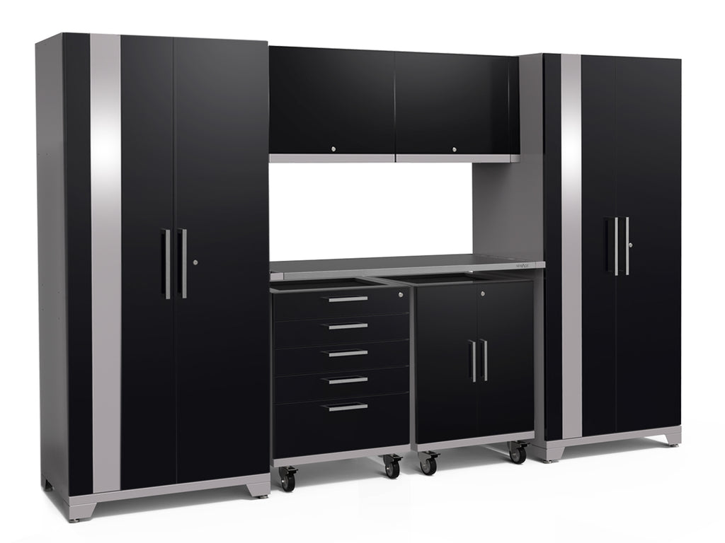 High gloss Black / Stainless Steel / No light