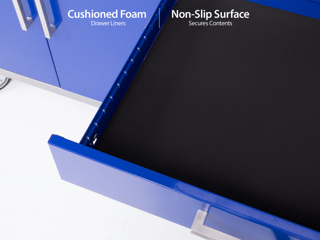 High gloss Blue / Bamboo / No light