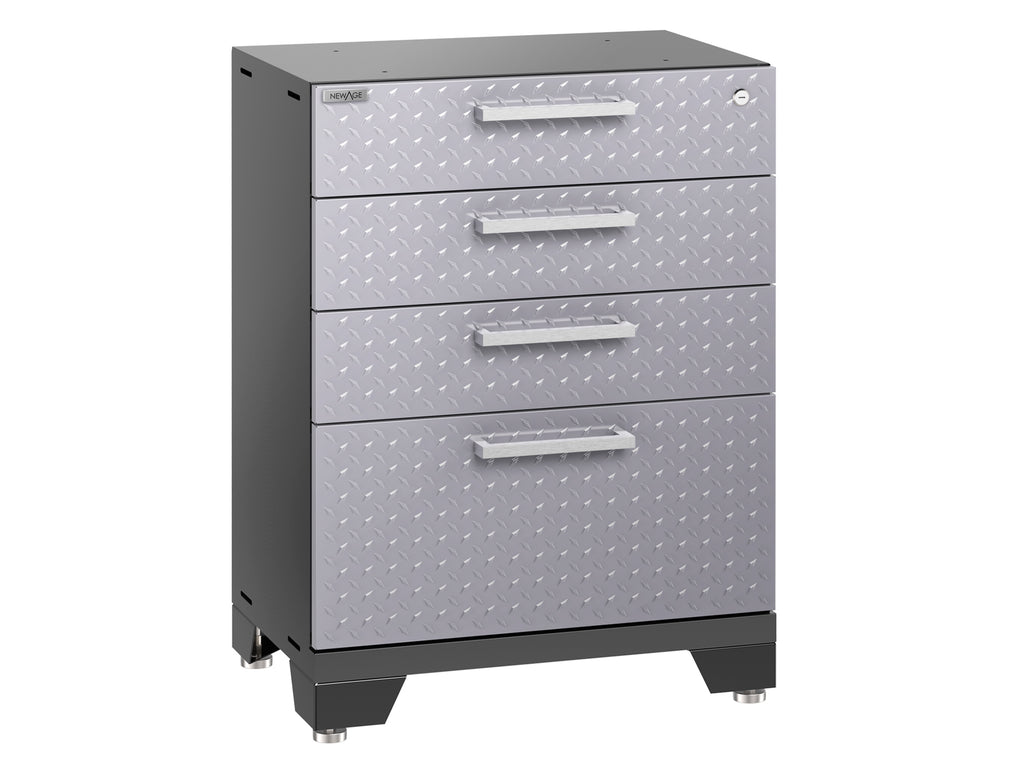 Performance 2.0 Diamond Plate Silver Tool Drawer Cabinet