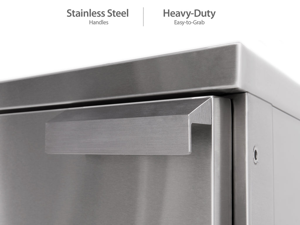 Outdoor Kitchen Stainless Steel 45-Degree Corner Cabinets (Set of 2)