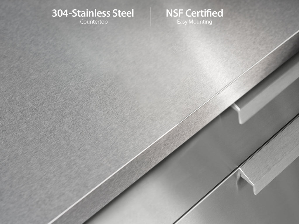 "Classic Stainless Steel / No Cover or Countertops / 33"" Grill Cabinet"