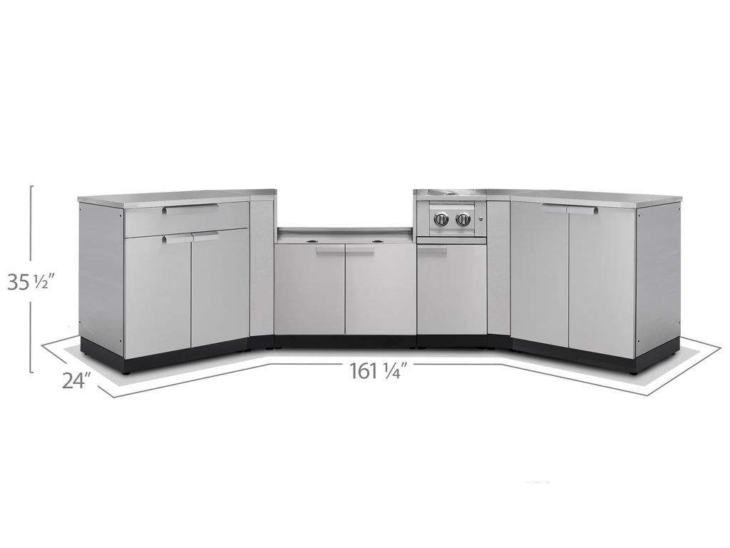 "No Covers or Countertops / 33"" Grill Cabinet"