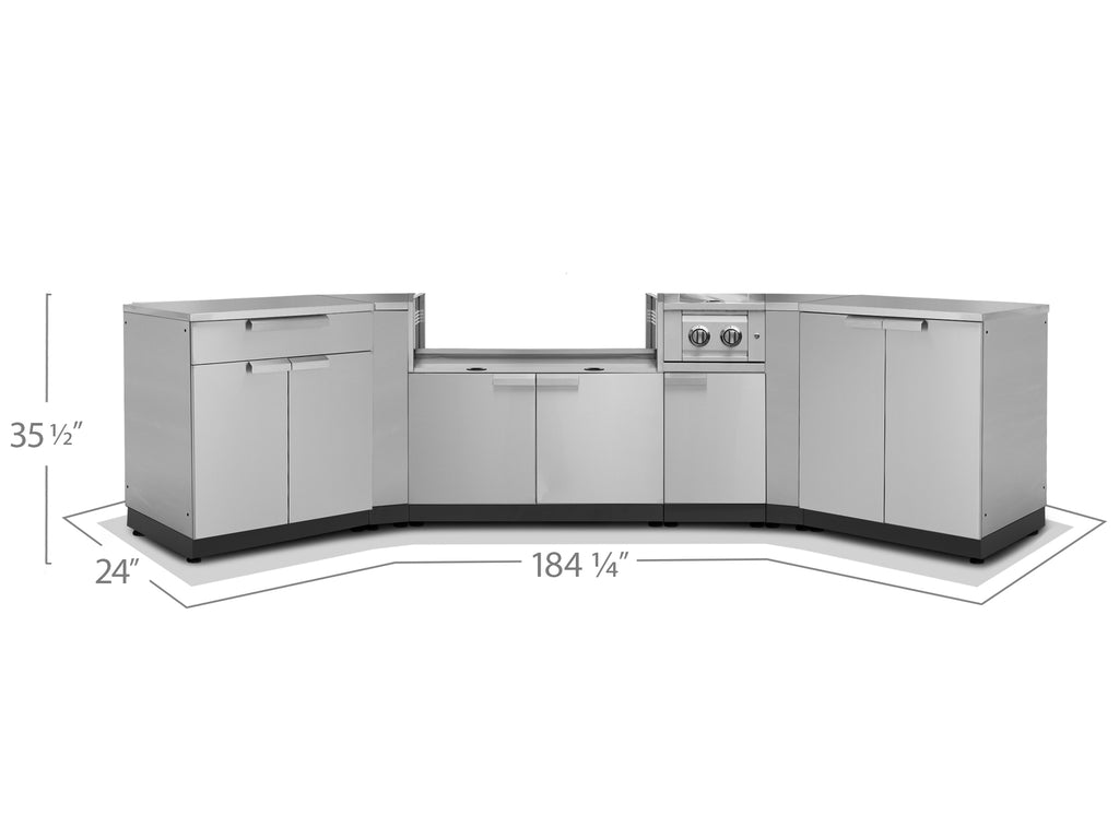 "Include Countertops / 40"" Grill Cabinet"