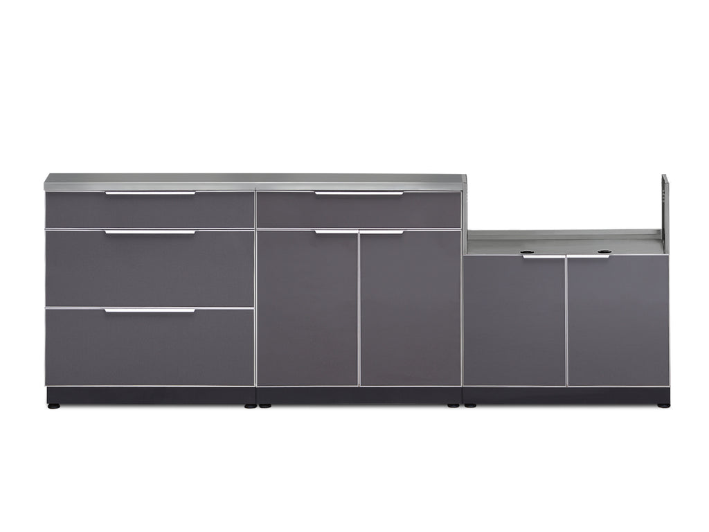 "Slate Grey / Include Countertops / 33"" Grill Cabinet"