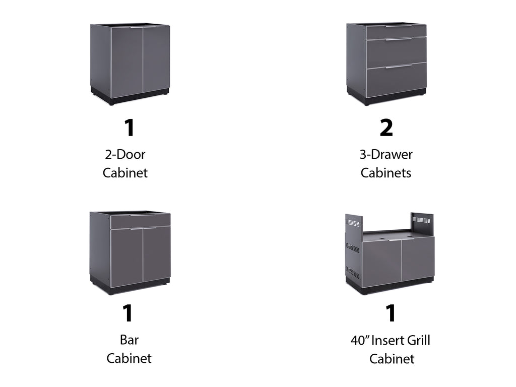 "No Cover or Countertops / 40"" Grill Cabinet"
