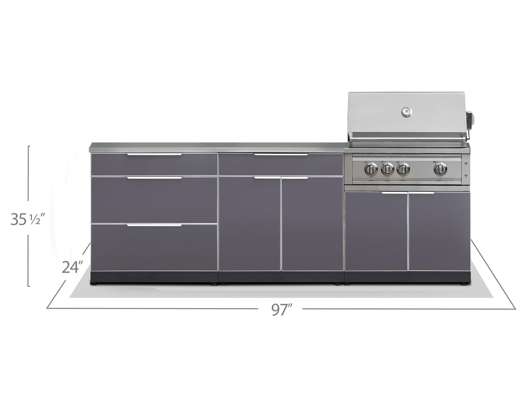 "Include Countertops / 33"" Grill & Grill Cabinet"