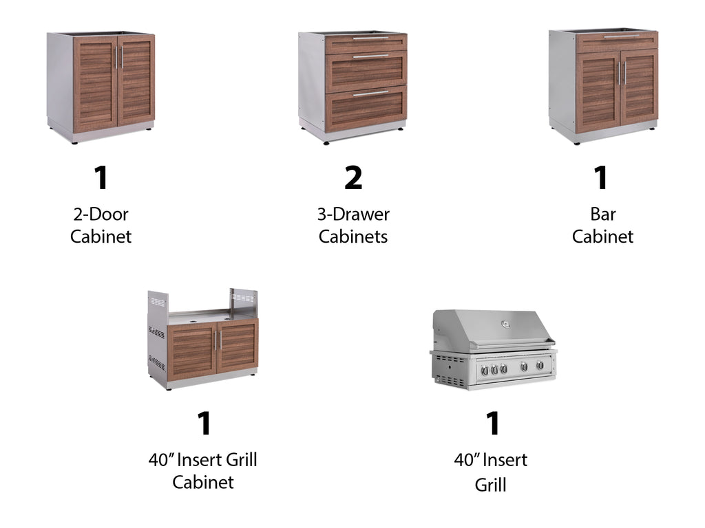 "Grove / No Cover or Countertops / 40"" Grill & Grill Cabinet"