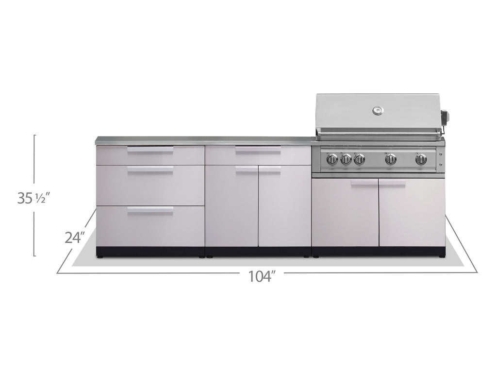 "Stainless Steel / Include Countertops / 40"" Grill & Grill Cabinet"