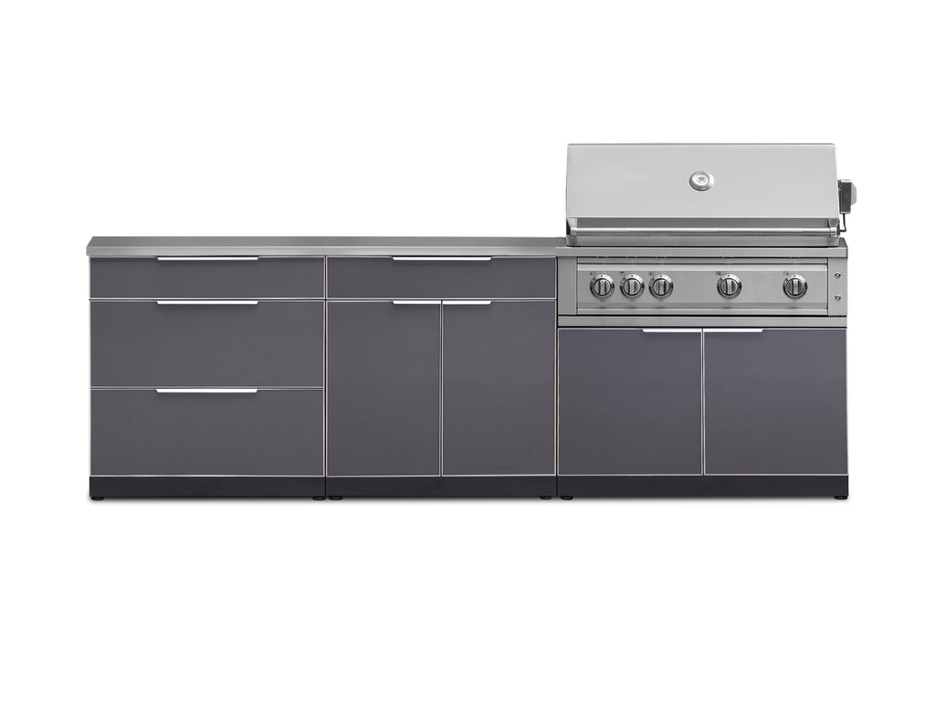 "Slate Grey / Include Countertops / 40"" Grill & Grill Cabinet"