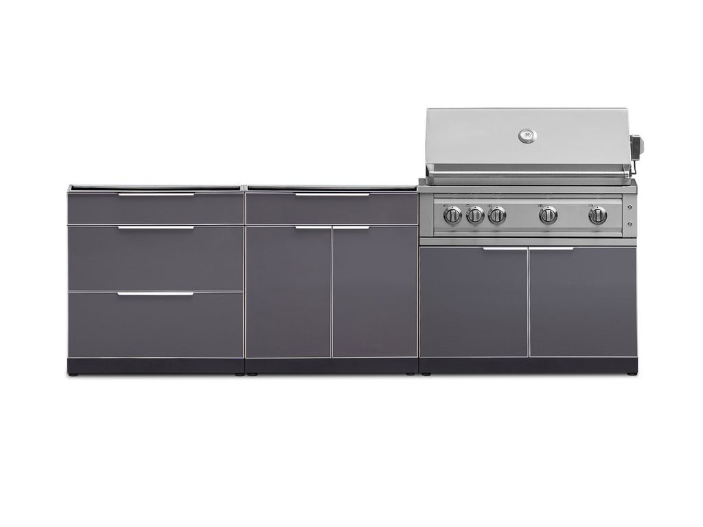 "Slate Grey / No Cover or Countertops / 40"" Grill & Grill Cabinet"