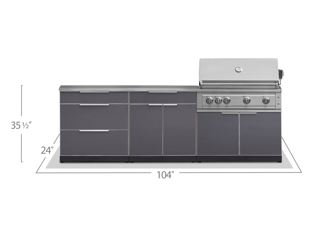 "No Cover or Countertops / 40"" Grill & Grill Cabinet"