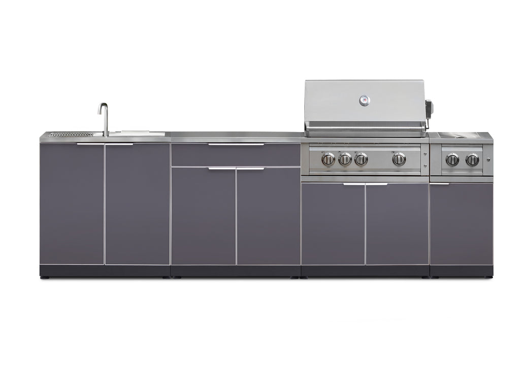 "Include Covers & Countertops / Slate Grey / 33"" Grill & Grill Cabinet"