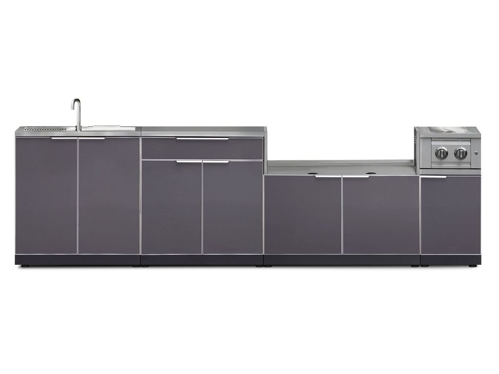 "Include Covers & Countertops / Slate Grey / 40"" Grill Cabinet"
