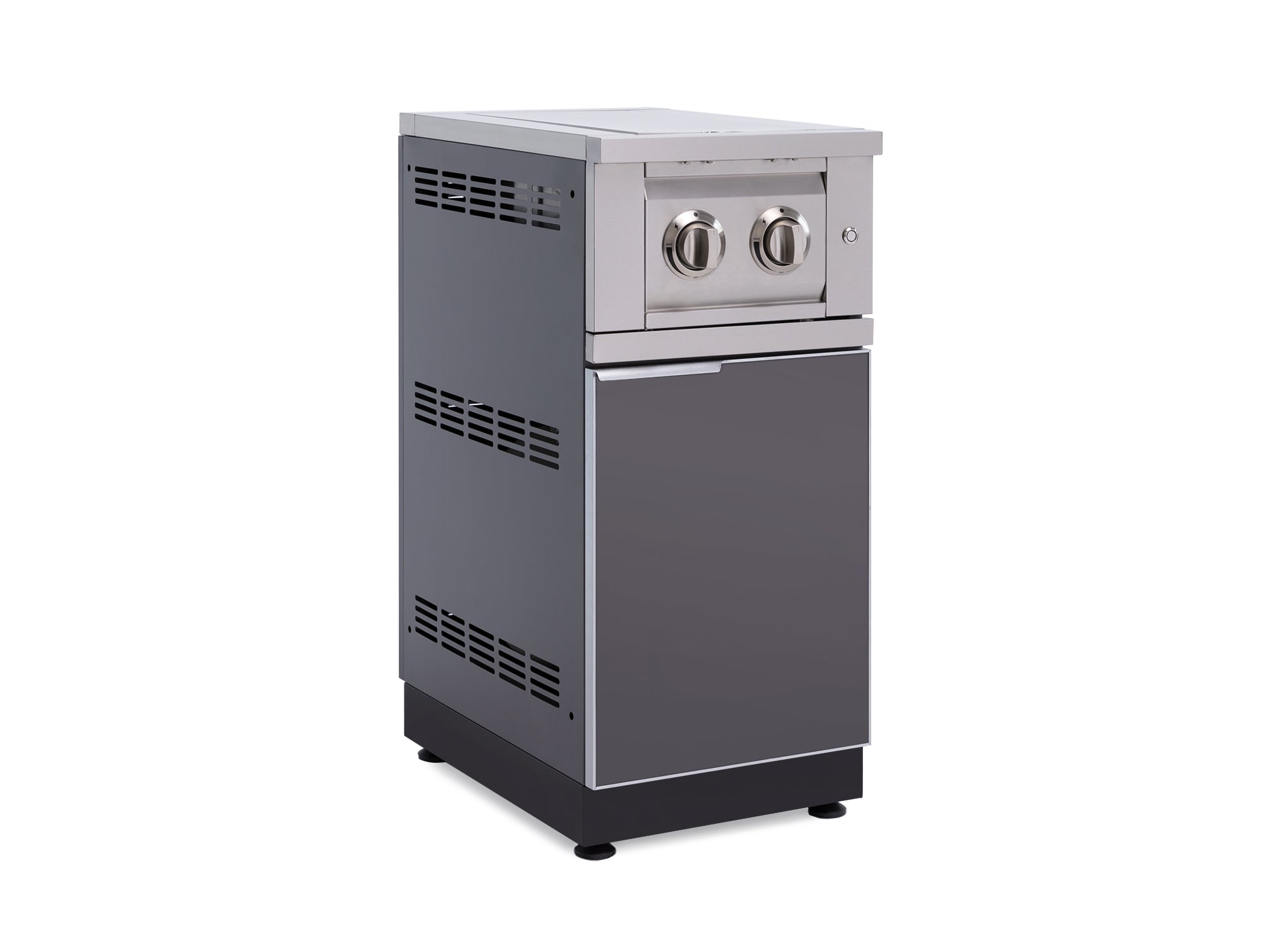 Outdoor Kitchen Dual Side Burner Cabinet in Aluminum with Cover