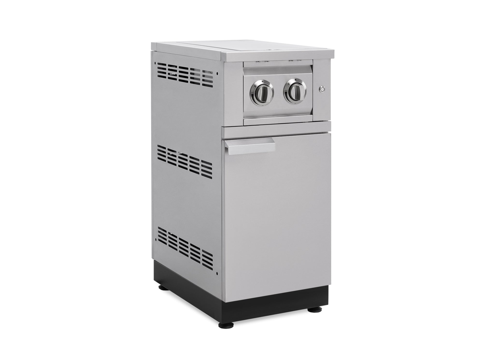 Outdoor Kitchen Dual Side Burner Cabinet in Stainless Steel with Cover