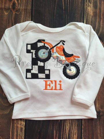 Dirt Bike Birthday Outfit For Boys First With Matching Hat Bib Motor