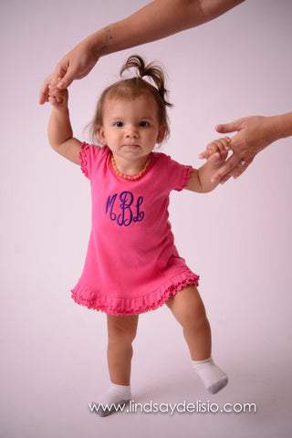 Dress with monogram -Monogrammed outfit for baby e9614239c860