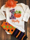 1st Birthday Pumpkin Outfit Sizes Newborn to Youth XL with Tutu, Leg Warmers, Bloomers and Headband (5 Pieces) - Pretty's Bowtique