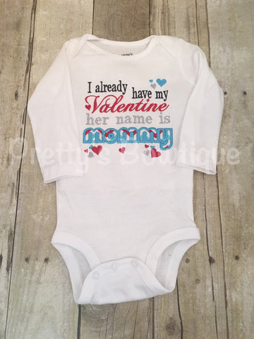 Valentines Day Shirt or Bodysuit for Newborn, Baby Boy & Kids – Set for Mommy