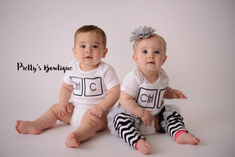 Twins outfits - Control Copy Control Paste shirt or bodysuit. Perfect for hospital or coming home outfit -- Boy/Girl-- Boy/Boy-- Girl/Boy