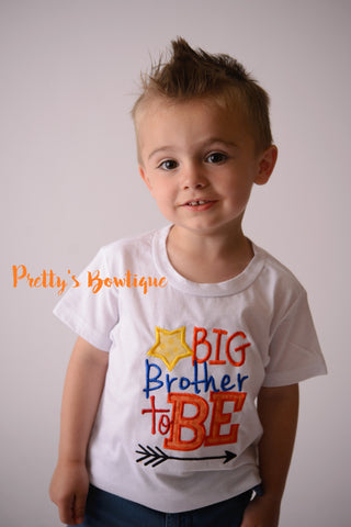 Big Brother to Be Announcement shirt -- Big Brother T shirt-- Big Brother bodysuit -- Big Brother Announcement - Pretty's Bowtique