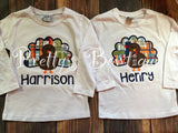 Boy Thanksgiving T Shirt / Bodysuit for Baby, Toddler & Child Personalized with Name - Pretty's Bowtique