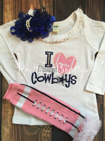 huge discount accec 0f9ec Dallas Cowboys Baby Girl Outfit 3-Pieces Sizes Newborn to 14 Years