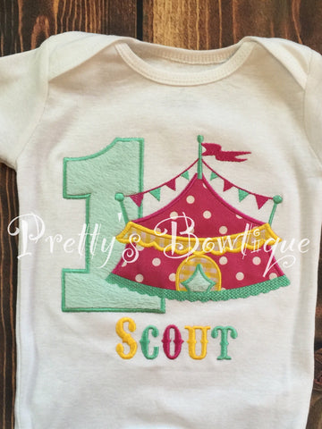 Girls Circus Birthday Shirt One Piece Perfect For A Trip To