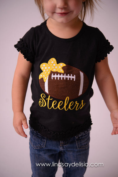 d42786c92 Pittsburgh Steelers Baby or Girls Football Shirt Sizes 3 Months to XL –  Pretty s Bowtique