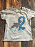 Boys Shark Birthday Shirt or Bodysuit  - Custom Birthday outfit Shark--Under the sea-- Shark Boys Birthday Shirt -- 1st Birthday-- 2nd-- 3rd - Pretty's Bowtique
