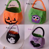 Halloween Bucket Personalized with Name – 4 Styles Available - Pretty's Bowtique